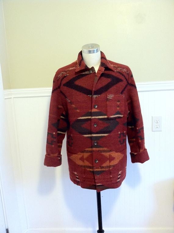 2d64bed8394b2c Ralph Lauren Navajo Jacket Indian Blanket Coat Beacon 10   Etsy