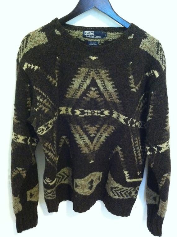Ralph Lauren Hand knit Sweater Southwestern Vintag