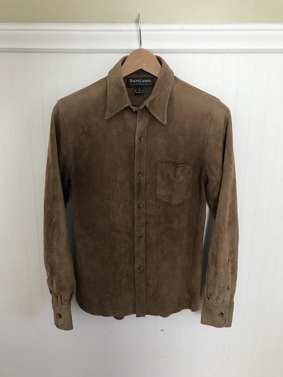 Ralph Lauren Suede Shirt Vintage Western Suede Lea