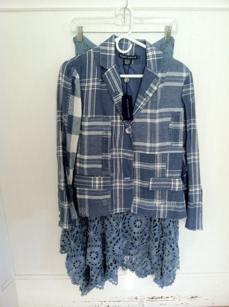 2bd2d6c08f Ralph Lauren Jacket Blue Label Patchwork Blue Denim Jacket