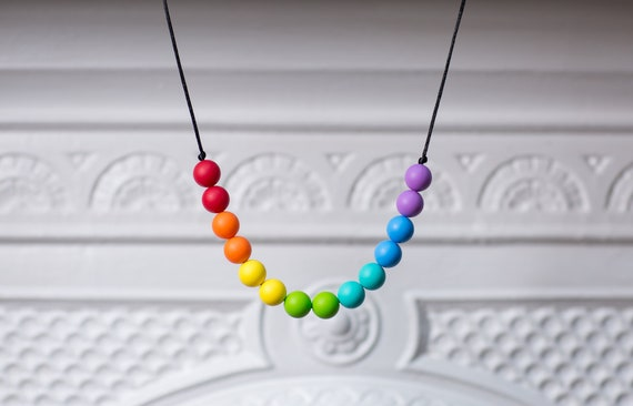 Rainbow necklace  SPECTRUM . Chewable nursing  6ded3d5e9