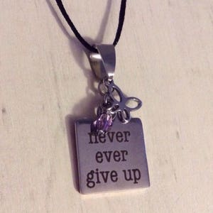 Hope survivor charm pendant tiny spoon stainless steel word charm stainless steel butterfly pendant never give up hypoallergenic lupus fibromyalgia aloadofball Images