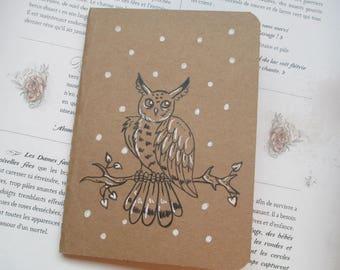 """Book - """"OWL"""" Kraft notebook"""