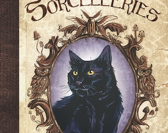 Cats, charms and witchcraft illustrated book