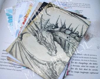 Set of 10 postcards (CAT, dragon, Wolf, Unicorn, Phoenix, Fox)
