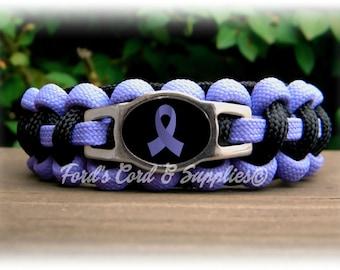 Periwinkle Awareness Bracelet, Paracord Bracelet Eating Disorders, Pulmonary Hypertension, Esophageal Cancer, Stomach Cancer