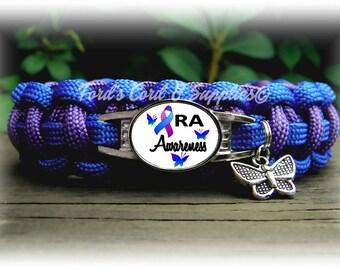 Rheumatoid Arthritis Awareness Bracelet, Paracord Bracelet, Womens Bracelet, Ladies Bracelet, Girls Bracelet, Support Bracelet, Gift