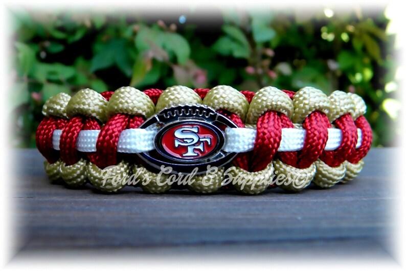 premium selection 0ac4e 9b7ef San Fransisco 49ers Bracelet, Paracord Bracelet, Football Bracelet,  Survival Bracelet, Unisex Adult Bracelet, Child Bracelet, Fan Gear, Gift