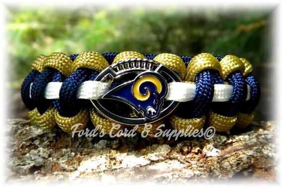 Los Angeles Rams Bracelet Paracord Bracelet Survival  ab0e21291