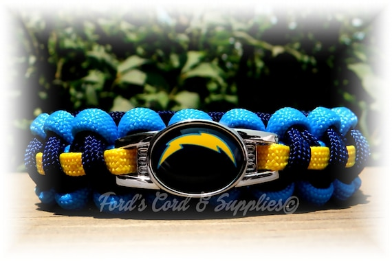 Los Angeles Chargers Survival Paracord Bracelet NFL Officially Licensed  Charm 93eff0236