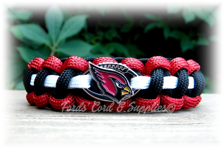 7cf704a3 Arizona Cardinals Bracelet, Paracord Bracelet, Football Bracelet, Survival  Bracelet, Unisex Adult Bracelet, Childs Bracelet, Gift, Fan Gear