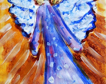 Angel Painting Art Print, Birthday Gift, Gift Idea, Gift for her, Gift for Mom, Romantic Gift, Nursery Decor, Gift Idea