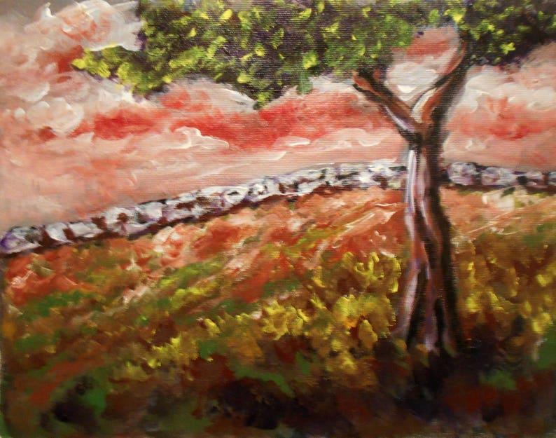 Landscape Tree Painting Tree Acrylic Painting Nature Art Acrylic On Canvas Sunset Painting Landscape On Canvas Wall Art