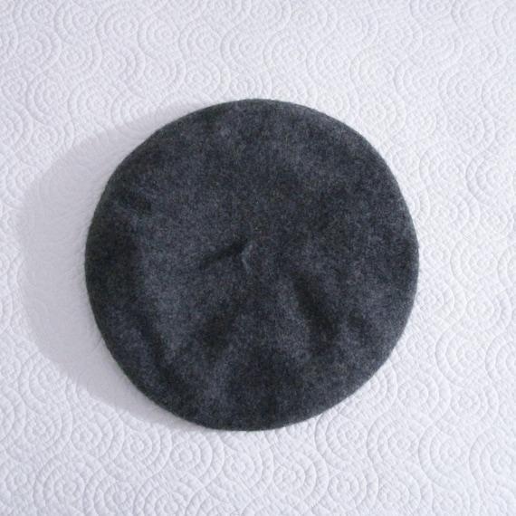 Vintage Wool Beret Bloomindale's Gray Wool Beret W