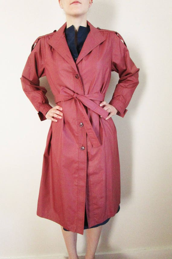 Vintage Womens Trench Coat Small 70s Trench Coat P