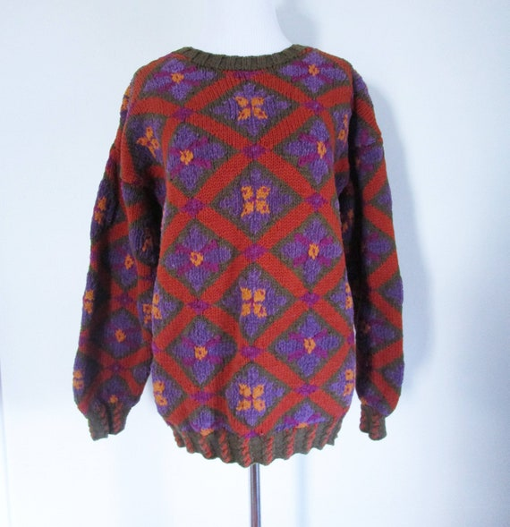 discover latest trends terrific value lowest price 80s Banana Republic Sweater New England Sweater Vintage Banana Republic  Cotton Sweater Small Sweater Purple Red Sweater 80s Sweater