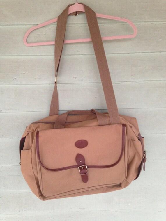 Vintage Ralph Lauren Canvas Leather Messenger  Travel Bag  dc5a56e7eeefa