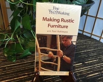 Fine Woodworking Making Rustic Furniture by Paul Ruhlmann sealed New VHS 2000