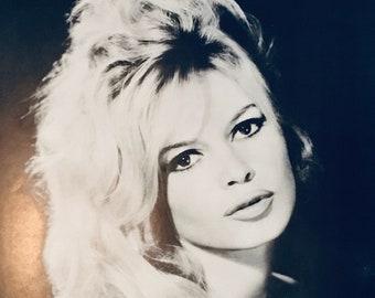 Actress Brigitte Bardot Vintage 1969 Black and White Poster