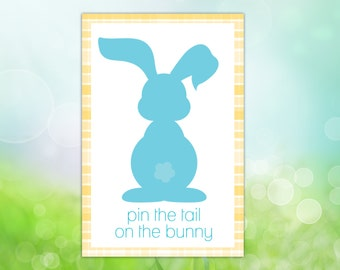 image regarding Pin the Tail on the Bunny Printable known as Tail upon the bunny Etsy