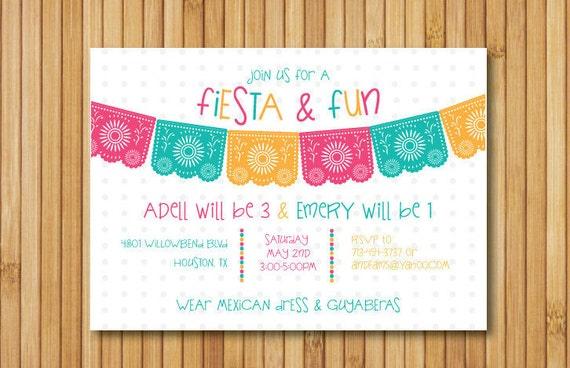 fiesta birthday invitation cinco de mayo invitation fiesta etsy