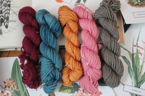 Naturally Dyed Bold Mini Skein Sample Kit