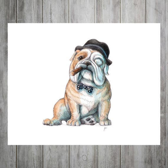 English Bulldog, British Bulldog, Digital Download, Bully Art, Printable,  English Bulldog Print, British Bulldog Wall Art, Bulldog Art, Dog