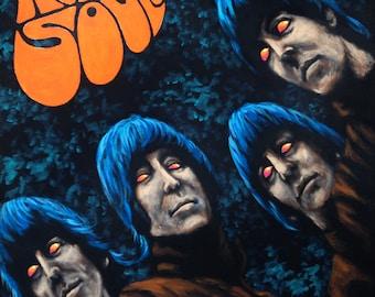 "Fine art print ""Robbing Souls"" - Beatles parody"