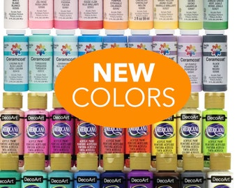 Acrylic Craft Paints 2 oz. Assorted Colors. Americana Paint. DecorArt Paint. Folk Art. Craft Paint.