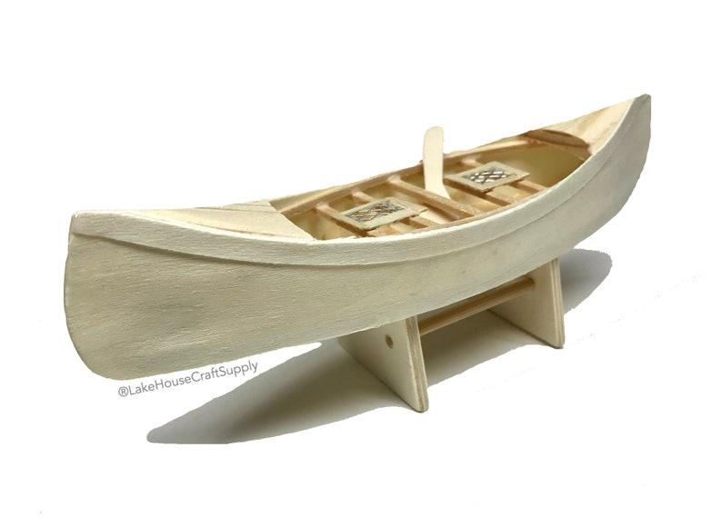 7 Nackten Holz Kanu Boot Kleine Unbehandeltes Holz Etsy