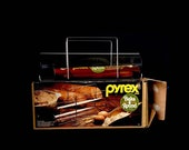 Vintage Pyrex Bake A Round Bread Baker With Box Instructions Recipes 1970s