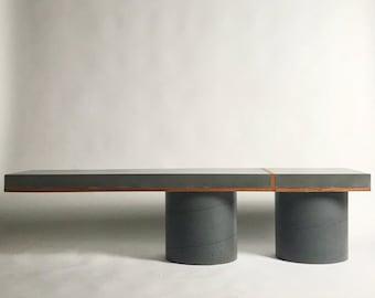 Concrte column/slab bench