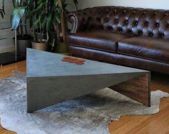 Concrete Triangle Coffee Table Isosceles