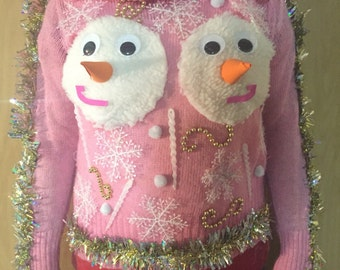 Ugly Christmas Sweater Boob Etsy