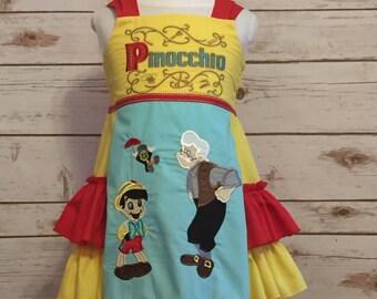 2845c7e6c7b Disney Inspired Pinocchio Dress! Perfect for everyday
