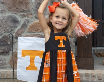 Game day University of Tennessee Vols inspired dress. Perfect for going to the game, school, or football party