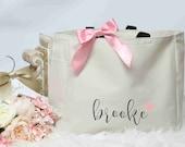 Bridesmaid tote bag, bridal party totes, wedding gift, bridesmaid gift, wedding tote, personalized tote, bridesmaid proposal, monogram tote