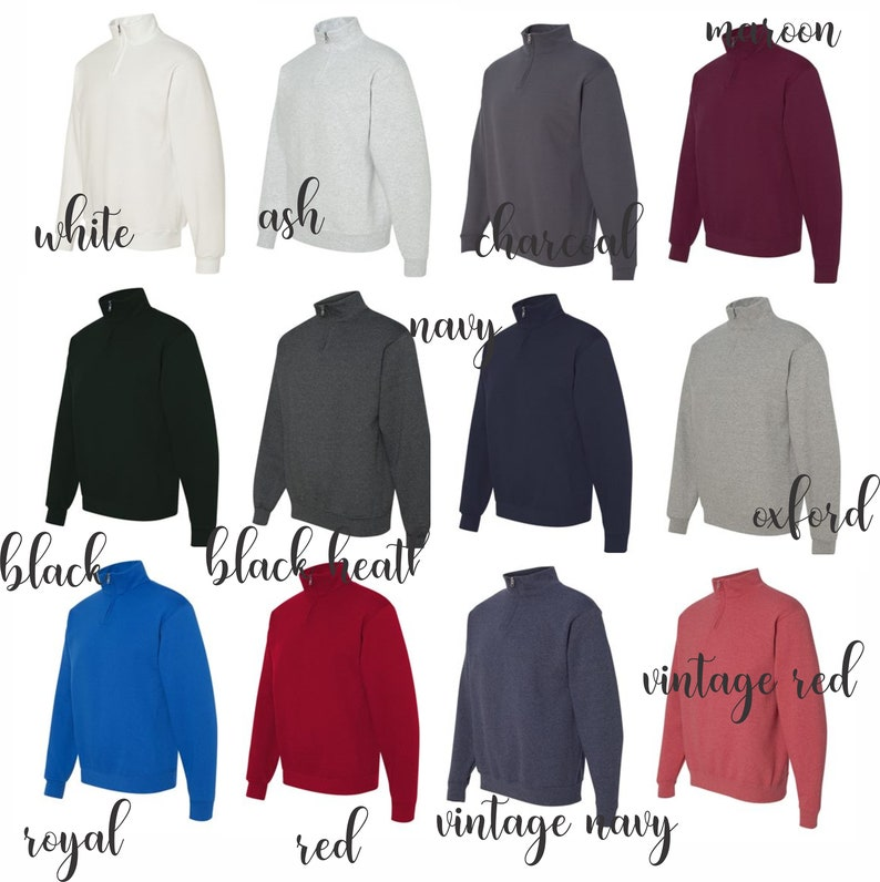 monogrammed quarter zip quarter zip monogrammed sweater monogrammed sweatshirt gifts for her Christmas gift