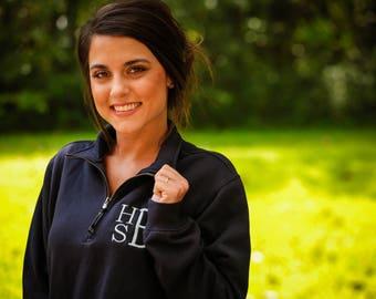 Monogrammed sweater, charles river quarter zip, monogramed sweatshirt, charles river sweater, monogram sweat shirt, quarter zip 1/4 zip