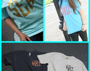 monogrammed shirt, monogrammed tee, monogrammed t shirt, personalized shirt, monogrammed tshirt, bridesmaid gift, bridesmaid shirt