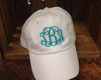 Monogrammed baseball cap, monogrammed hat, monogrammed cap