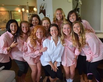 Monogrammed button down shirt, wedding shirt, bridesmaid gift, bridesmaid shirt, bride shirt, wedding gift