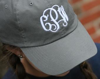 Monogrammed cap monogrammed hat baseball cap monogrammed baseball hat cap