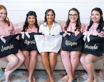 Bridesmaid tote bag, bridesmaid tote, personalized tote, bridal party tote, bridesmaid gift, bridesmaid proposal, monogrammed wedding tote