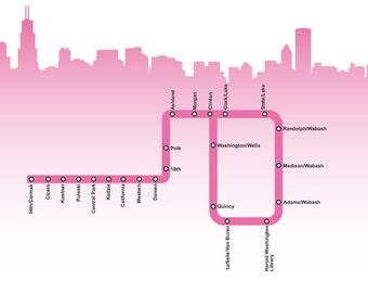 Chicago Pink Line Map