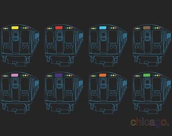 Chicago El Trains