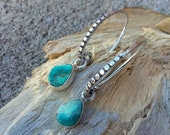 Sterling Silver Earrings Turquoise Accessories Silver Jewelry Native American Jewelry-Western fashions Turquoise Earrings