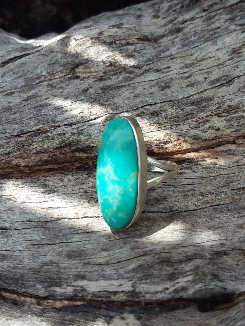 Turquoise Ring Size4.75 Sterling SilverAccessories Southwestern Fashion Native  American Navajo Boho Country western Cowgirl Bohemian rings