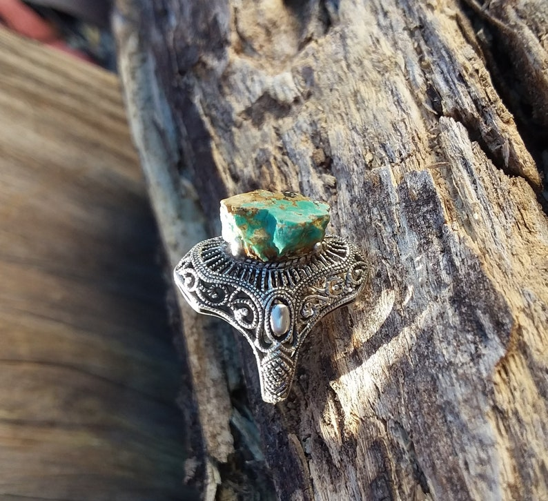 Turquoise Ring Size5 Sterling Silver Rings Native American Jewelry-Navajo Accessories Fashion jewelry Silver