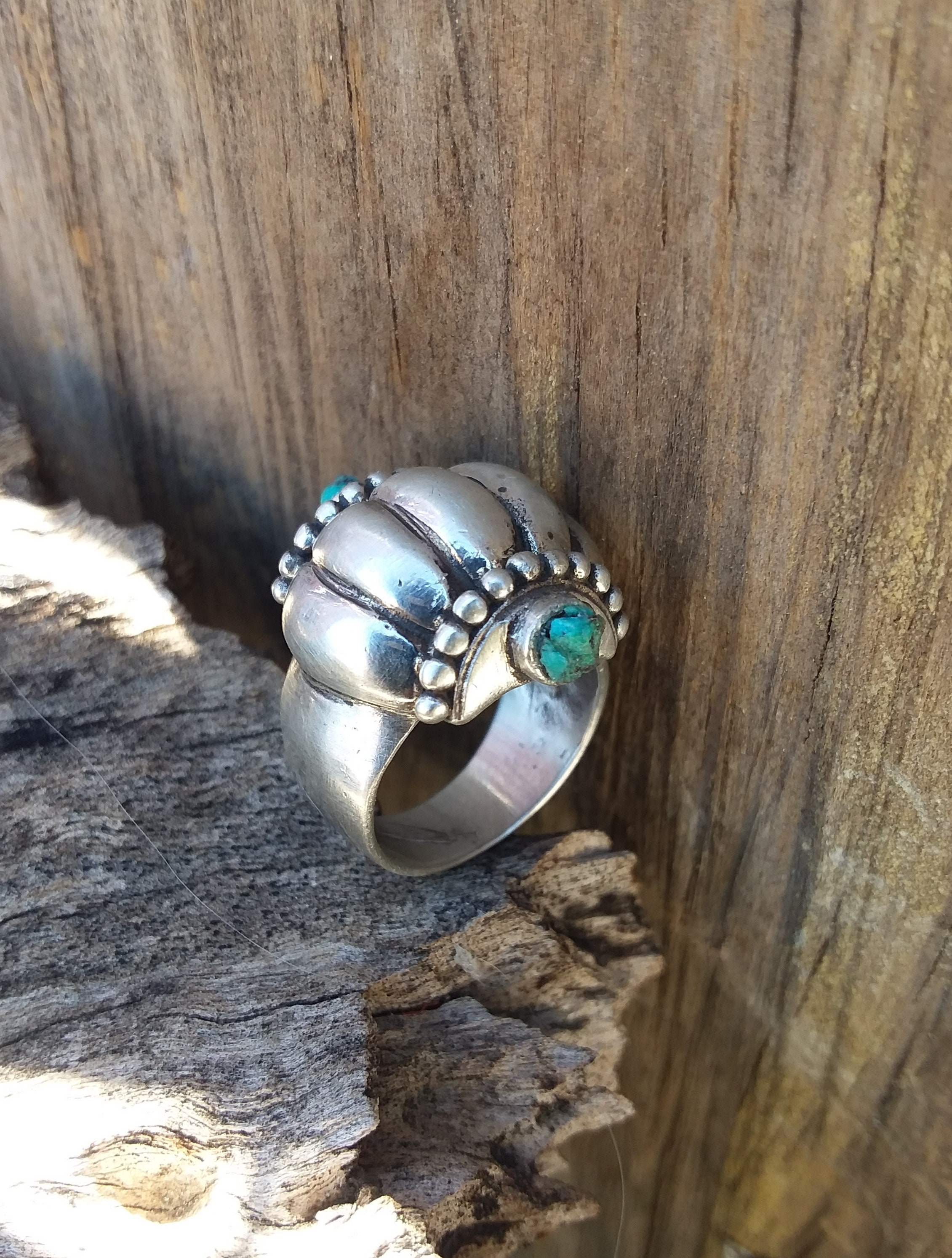 Turquoise Ring Size5 5sterling Silver Ringsnative American Etsy